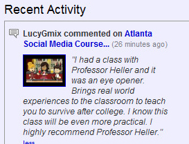 Atlanta Social Media Marketing / SEO Course Student Testimonial